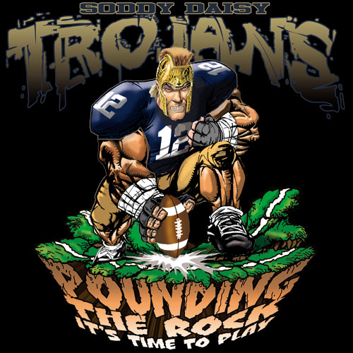 trojans pounding the rock tshirt - 6, 29 Tee
