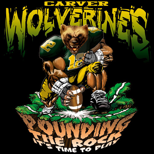 wolverines pounding the rock tshirt - 6, 29 Tee
