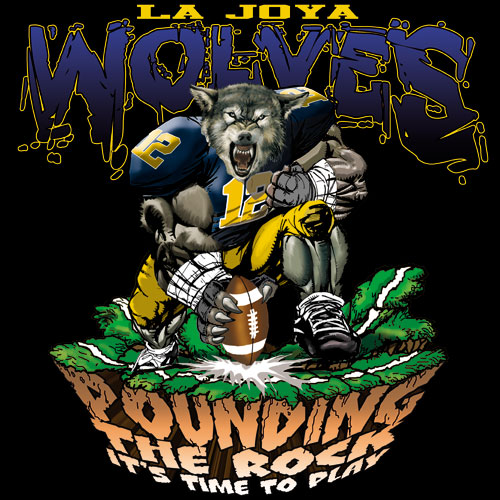wolves pounding the rock tshirt - 6, 29 Tee