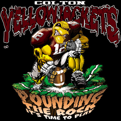 yellowjackets pounding the rock tshirt - 6, 29 Tee