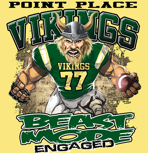Vikings Beast Mode - 6, 41 Tee