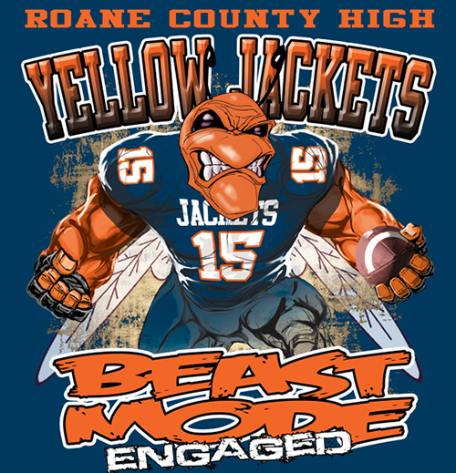 Yellow Jackets Beast Mode - 6, 41 Tee