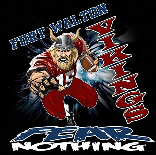 Vikings Fear Nothing Tee - 6, 42 Tee