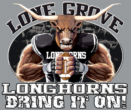 Longhorns Football  Bring It On! - 6, 63 Tee