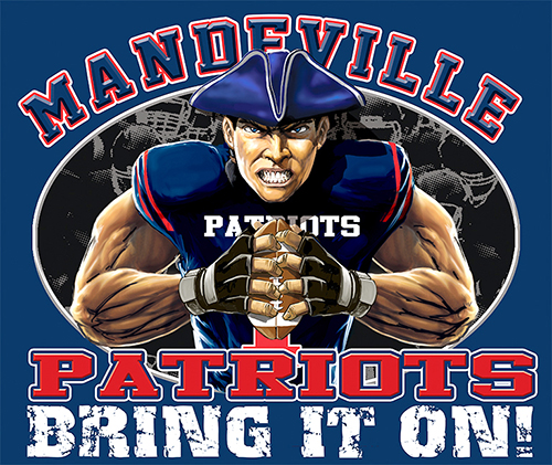 Patriots Football Bring It On! - 6, 63 Tee