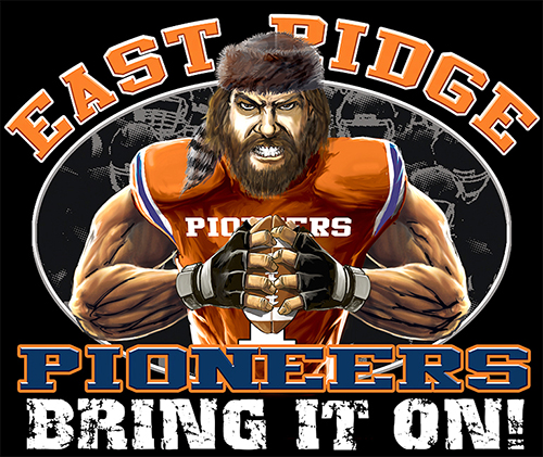 Pioneers Football Bring It On! - 6, 63 Tee
