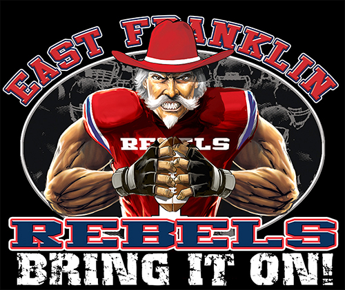 Rebels Football Bring It On! - 6, 63 Tee
