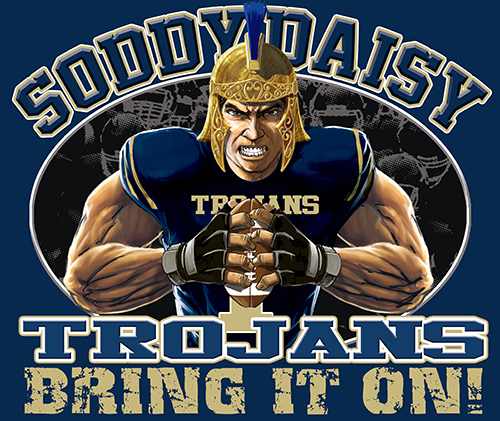 Trojans Football Bring It On! - 6, 63 Tee