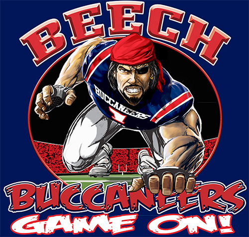 Buccaneers Football Game On tee - 6, 64 Tee