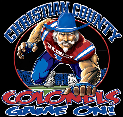 Colonels Football Game On tee - 6, 64 Tee