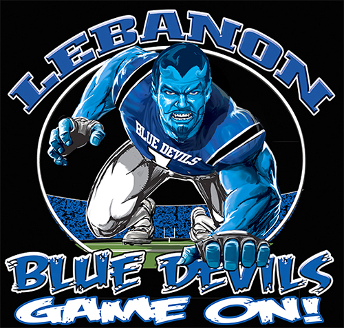 Blue Devils Football Game On tee - 6, 64 Tee
