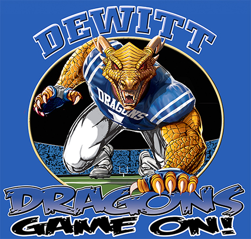 Dragons Football Game On tee - 6, 64 Tee