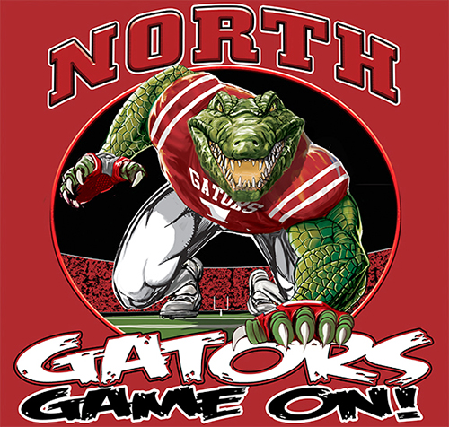 Gators Football Game On tee - 6, 64 Tee
