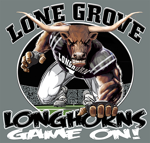 Longhorns Football Game On tee - 6, 64 Tee