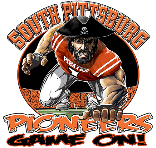 Pioneers Football Game On tee - 6, 64 Tee