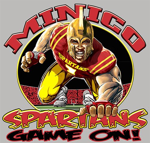 Spartans Football Game On tee - 6, 64 Tee
