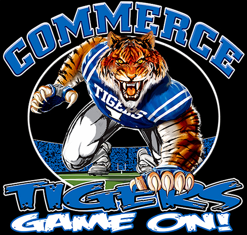 Tigers Football Game On tee - 6, 64 Tee