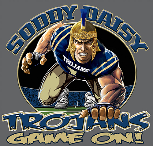 Trojans Football Game On tee - 6, 64 Tee