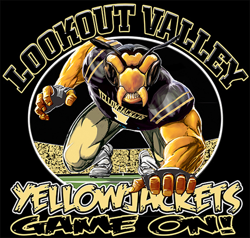 Yellow Jackets Football Game On tee - 6, 64 Tee