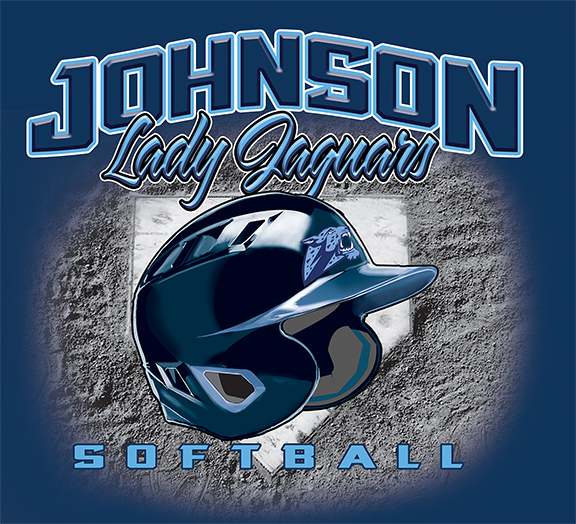 Johnson Lady Gaguars Softball - 10, 49 Tee